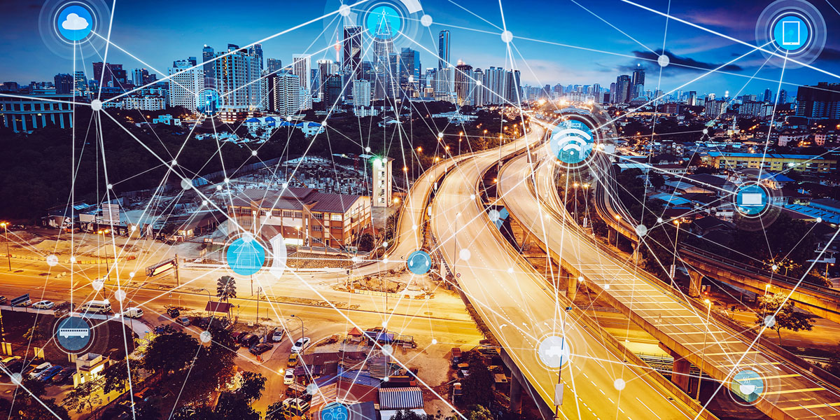 Smart,City,And,Wireless,Communication,Network,,Abstract,Image,Visual,,Internet